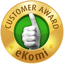 eKomi Gold Customer Award